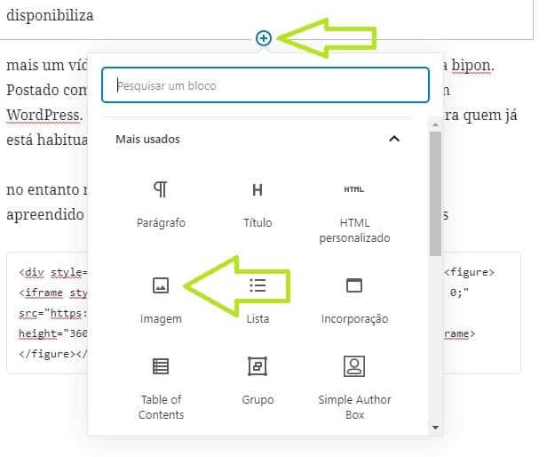 como inserir imagens no WordPress