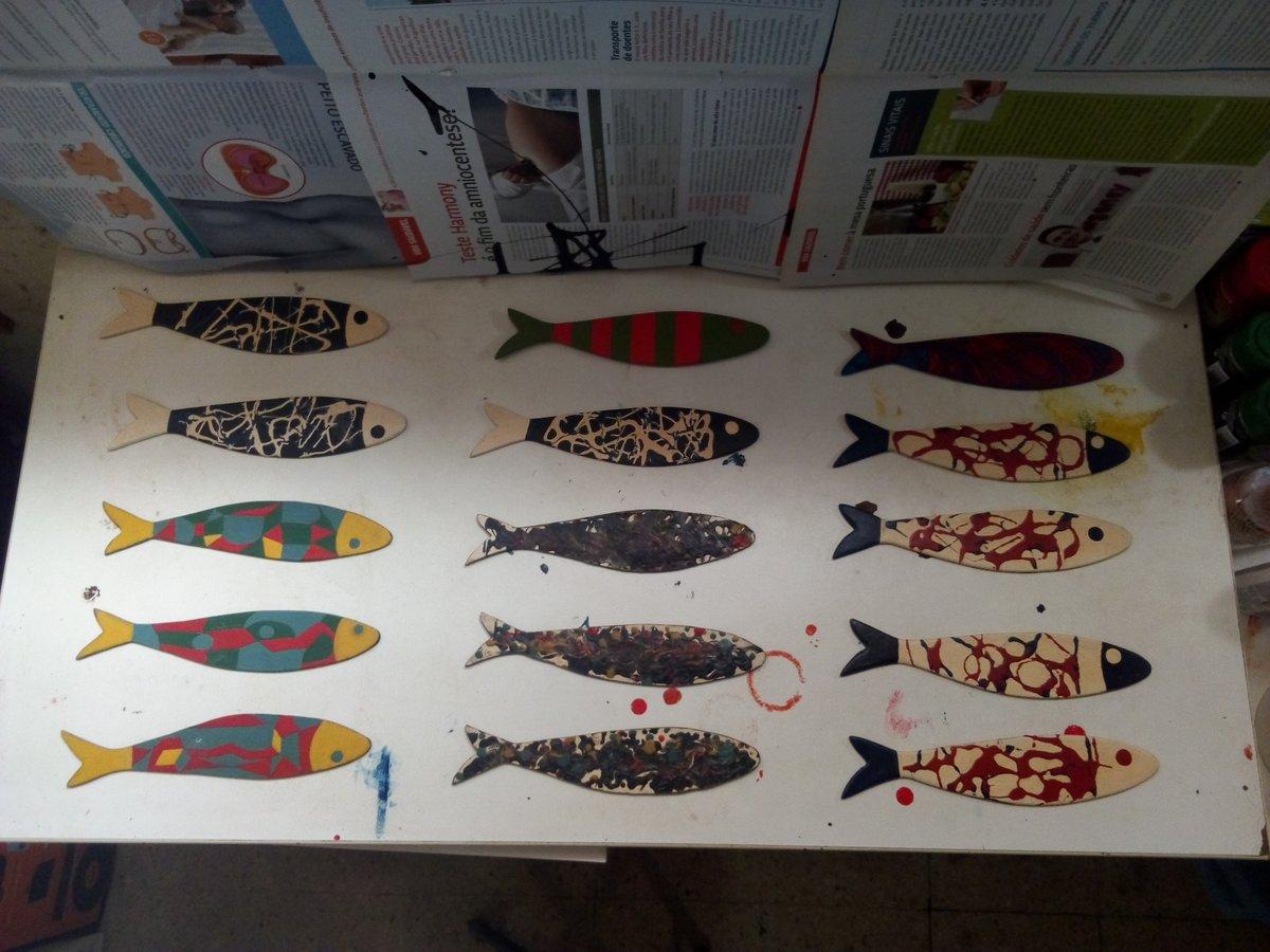 família completa de 15 sardinhas